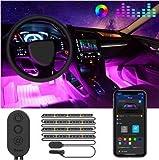 Striscia LED Auto con APP, Govee Luci LED Interne per Auto con 48...