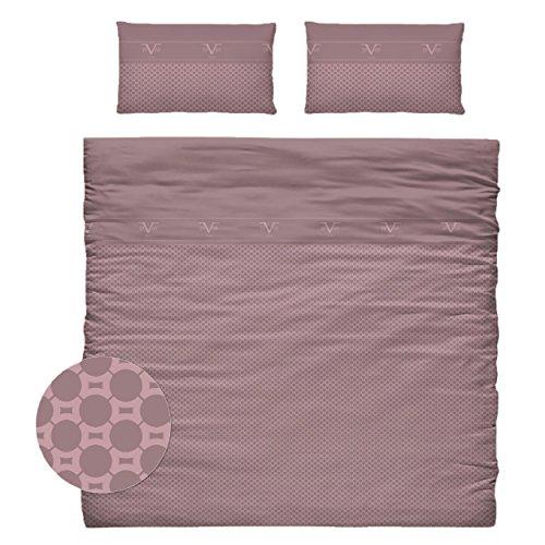 Versace 19 V69 dekbedovertrek en kussens voor bed, katoen, violet, 35 x 25 x 25 cm, 9 stuks