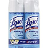 Lysol Disinfectant Spray, Crisp Linen Scent, Twin Pack, 2 x 12.5 Ounce 2.63 x 5.25 x 8.00 Inche…