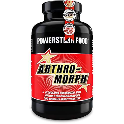ARTHRO-MORPH | Gelenkkapseln hochdosiert mit Glucosamin, Hyaluronsäure, Kollagenhydrolysat, Chondroitin, MSM & Vitamin C | Ohne Magnesiumstearat | 120 Kapseln | Hergestellt in Deutschland nach IFS
