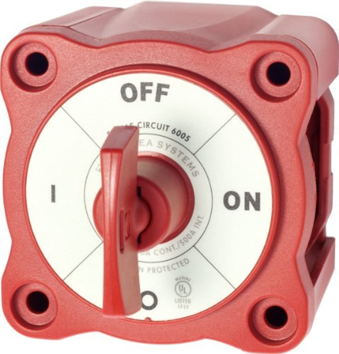 Blue Sea System 6005 Battery Switch Mini On/Off (25103) Color: Red Style: On-Off w/key, Model: 6005, Electronic Store