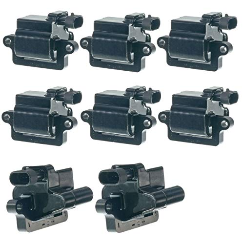 Set of 8 Ignition Coil Pack for Chevrolet Tahoe SSR Silverado Express Suburan GMC Workhorse Cadillac Hummer Mercruiser