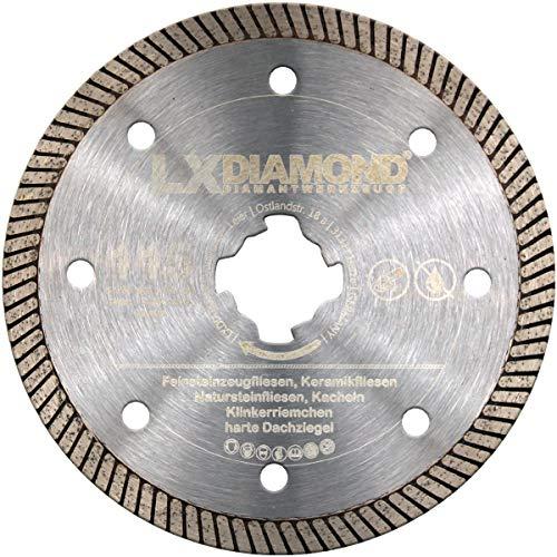 LXDIAMOND Disco de corte de diamante X-LOCK de 115 mm para gres porcelánico, azulejos, piedra natural, compatible con amoladora angular Bosch X-Lock de 115 mm