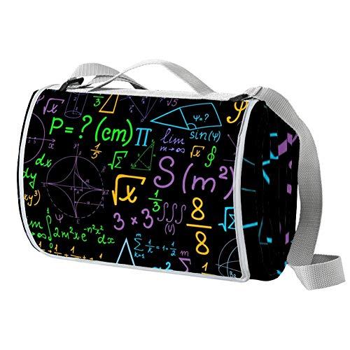 NewLL Math Geométrica Parcelas fórmulas cálculos manta picnic impermeable manta al aire libre plegable picnic práctico estera para playa camping senderismo