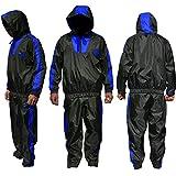 AQF Sauna Suit Chandal Fajas Reductoras Adelgazantes Hombre Perder Peso Fajas para Adelgazar para Gimnasio Trotando Fitness Hombres Y Mujeres (Azul, S)