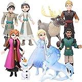 Princesa Congelada Cake Topper, NALCY 9 Pcs Frozen Cake Topper, Mini Figuras Niños Cake Topper, Pastel Decoración Suministros, Baby Shower Fiesta de cumpleaños Pastel Decoración Suministros