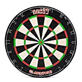 ONE80 Gladiator Dartboard with Top-Grade Sisal and Sword Edge Staple Free Wire Spider for Maximum Scoring Potential and Less Bounce Outs