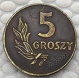Chaenyu Moneda Conmemorativa de la decoración de la colección de Recuerdos de la Copia de Las Monedas de Polonia de 1949