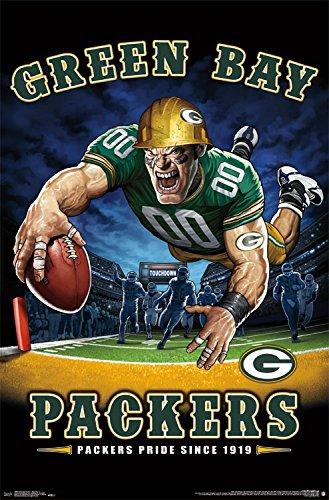 Trends International NFL Green Bay Packers - End Zone, 22.375' x 34', Unframed Version