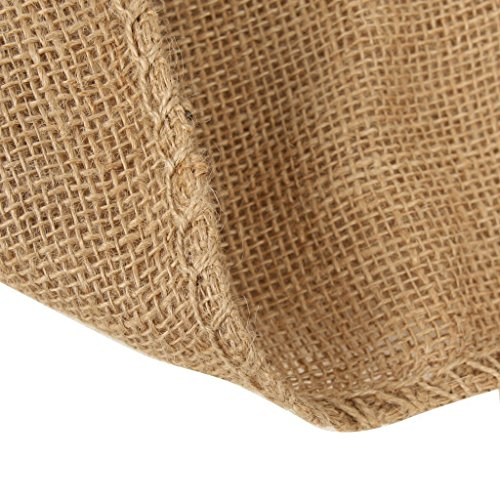 Paquete de 4 sacos de raza de arpillera de arpillera de Modo 23 x 38 pulgadas (97 x 60 cm). Bolsa de almacenamiento biodegradable de hilo de yute fuerte