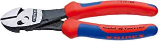 Knipex Tools 73 72 180 BK TwinForce High Performance Leverage Diagonal Cutter with Comfort Grip Handle, Red/Blue