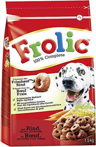 Frolic Hundefutter Trockenfutter mit Rind, Karotten und Getreide, 5 Beutel (5 x 1,5kg)