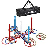 Win SPORTS Premium Wooden Ring Toss Game Set Throwing Game Indoor Outdoor Games for Kids &...