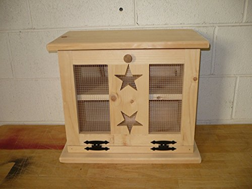 Kenzie's Kreations Unfinished Star Wooden Bread Box, 18' L