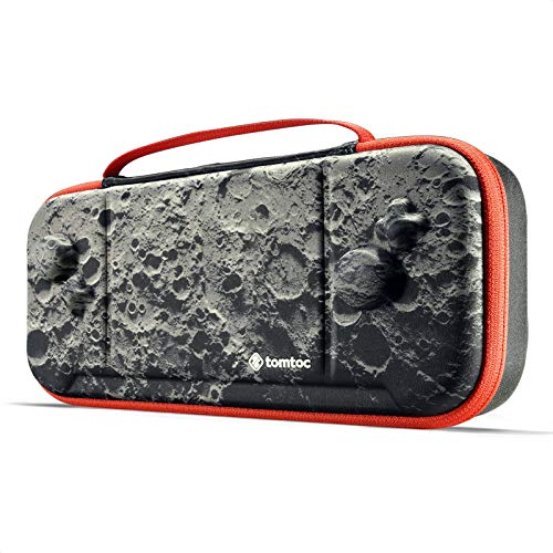 tomtoc Carry Case for Nintendo Switch Hori Split Pad Pro Controller, Grip Protective Carrying Case Case mit 30 Game Cartridges, Moon Theme Limited Edition