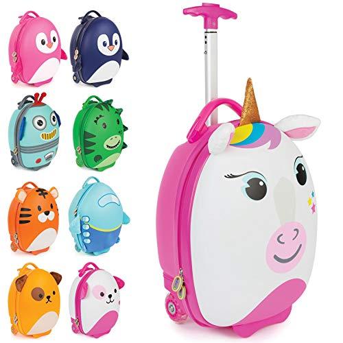 boppi Tiny Trekker Maleta Trolley Infantil Equipaje Cabina 2 Ruedas - 17 litros - Unicornio