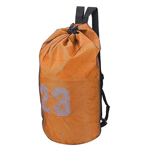 Fishawk Espesar el Saco de la Secuencia del Deporte, Bolsos de la Mochila del Lazo, para el fútbol del Baloncesto de los Atletas(Orange)