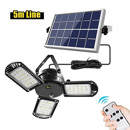 Lampes solaires pour l'extérieur avec 3 têtes de lumière - Lampes solaires réglables pour l'extérieur - LED - Lampe solaire d'extérieur - Lampes murales étanches - Lumière solaire pour jardin