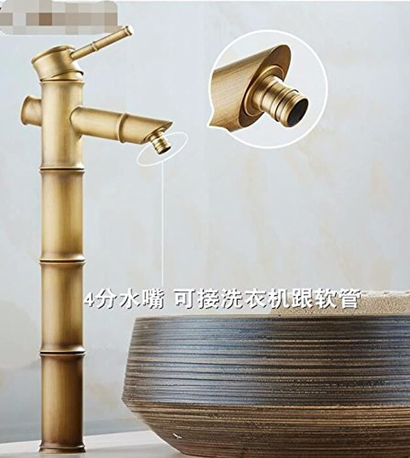 ETERNAL QUALITY Bathroom Sink Basin Tap Tap Tap Brass Mixer Tap Washroom Mixer Faucet Antique basin faucet antique solid brass basin faucet basin classic Bamboo Arts Festival and 458a86
