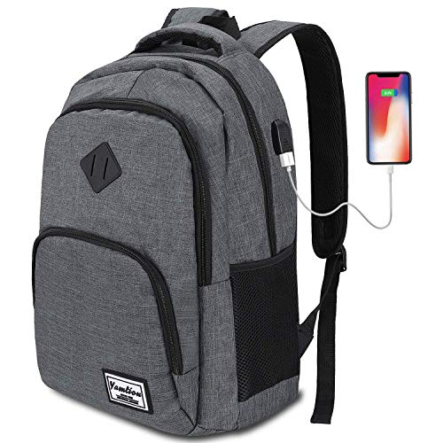 YAMTION Laptop Rucksack,Rucksack Herren mit USB-Ladeanschluss Schulrucksack Jungen Teenager mit 15,6 Zoll Laptopfach für Arbeit Schule Reise,35L