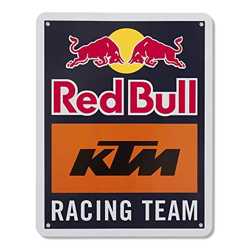 Red Bull KTM Racing Team Metallschild, Blau Unisex One Size Blechtafel, Red Bull KTM Factory Racing Original Bekleidung & Merchandise