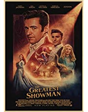 Movie The Greatest Showman Poster Wall Art Retro Kraft Paper Posers Cafe Creative Wallpaper Interior Decoration D70 50X70Cm