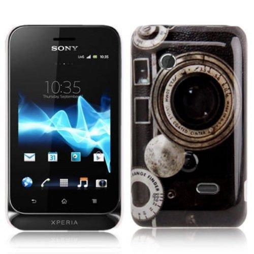 Unbekannt Hard Case/Cover caméra Sony Xperia Tipo / ST21i avec l'objectif Range Finder étui de Protection Couverture arrière de Shell Vintage
