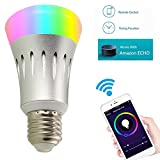 YUNI LED RGBW Lampe mit Fernbedienung, mit Amazon Alexa(Echo, Echo Dot) E27 Dimmbare Birne mit RGB...