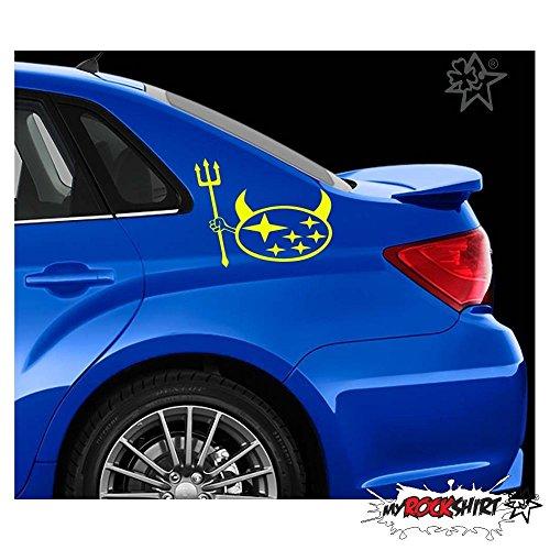 Subaru Teufel Forke 15 cm Tuning Aufkleber Sticker Decal `+ Bonus Testaufkleber