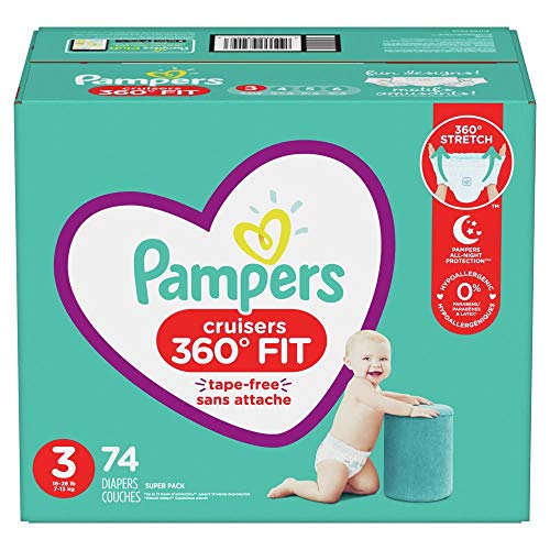 Diapers Size 3, 74 Count - Pampers Pull On Cruisers 360