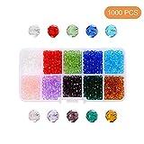 10 colori misti sfaccettati di cristallo perline per braccialetti, collane, gioielli, fai da te, 4*3.5mm