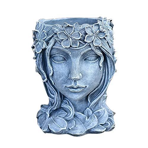 BaoDan Vase Corps Femme Body Vase Fleur Gris Interieur Petit Mini Vase Decoratif Design Salon Chambre Pot de Fleur Exterieur Pot a Crayon Original Argent Vase Buste Femme Tabletop