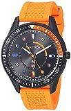 Nautica N83 Men's NAPSPS901 Surf Park Orange/Black Silicone Strap Watch
