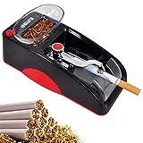 Perky Rouleau Automatique Électrique Cigarette Injecteur Tabac Machine À Tuber Les Cigarettes Cadeau Classic Noël Anniversaire pour Homme Père 155 * 80 * 70Mm,Rouge