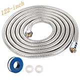 116-Inch Copper Head Shower Hose Stainless Steel Extra Long Shower Head Hose Bathroom
