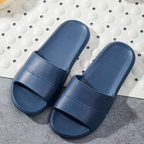 MDCGL Zapatos Antideslizante Zapatillas de Pareja Four Seasons para el hogar,Zapatos de baño Resistentes al Desgaste para el baño Interior y Exterior de Las Mujeres de los Hombres Azul Marino EU43-44