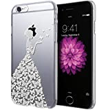 iPhone 6S Case, Cimo [Butterfly] Apple iPhone 6S Case Clear Design Princess Pattern Premium ULTRA SLIM Hard Cover for Apple iPhone 6S / 6 - White