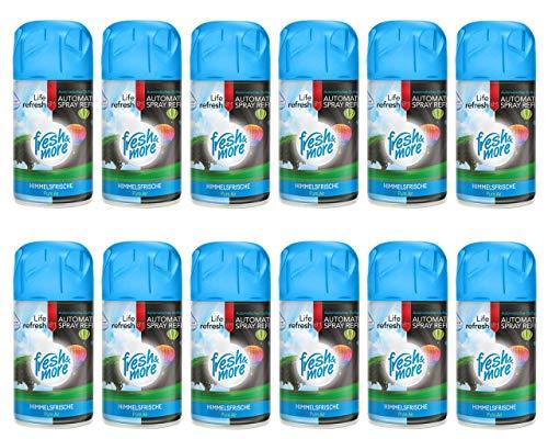 12x Fresh&More Himmelsfrische Lufterfrischer Passend Für Duftspender, 250ml