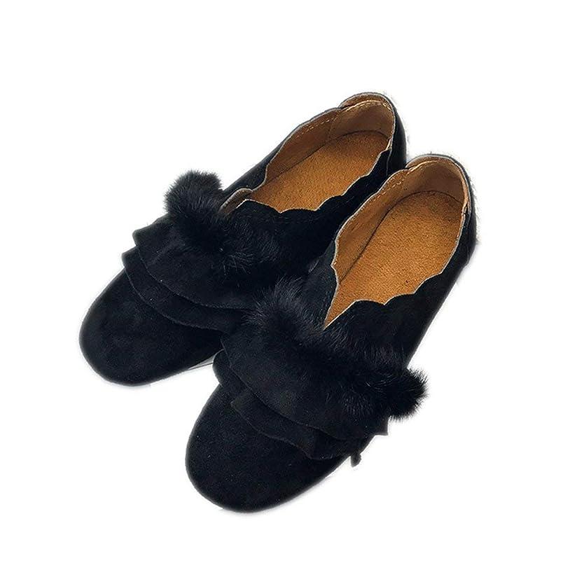 間欠インフラトレーダー[ZZXQ12] パンプス ファー レディース 秋サンダル ファー付 ラビットファー ふわふわ モコモコ 痛くない かわいい 靴 パンプス モカシン 秋ファッション おしゃれ シューズ 美脚 黒 大きいサイズ