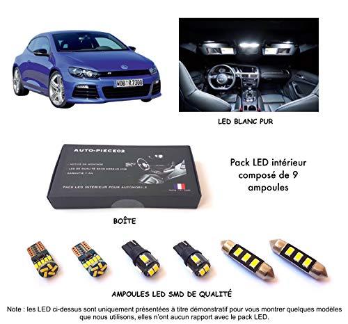 Pack FULL LED intérieur pour Scirocco (Kit ampoules blanc pur)