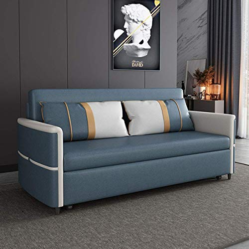 Home Equipment Sofa Bed Couch for Living Room Pull Out Sleeper And Storage Loveseat Folding Twin Sofa Bed Furniture Convertible Sofa Bed Arm Sleeper Leisure Futon Sofa Comfortable Cushion Green 1.6