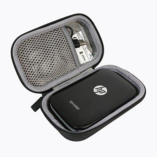 Duro Viajar Caso Cubrir para HP Sprocket - Impresora fotográfica portátil por co2CREA (Negro)