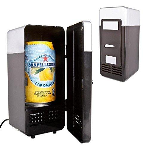 Mini frigo con ricarica USB da scrivania, per raffreddare o riscaldare bevande e lattine