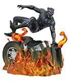 Diamond Select Black Panther Marvel Movie Gallery PVC Statue Black Panther Version 2 23 cm