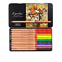 プロフェッショナル色鉛筆、油性、水溶性、ファインアートペインティング、プロフェッショナルハンドペイント(12色油脂、油性植物テーマカラー)