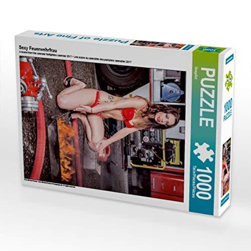 CALVENDO Puzzle Sexy Feuerwehrfrau 1000 Teile Lege-Größe 48 x 64 cm Foto-Puzzle Bild von SnapArt