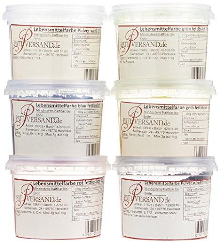 Pati-Versand Lebensmittelfarbe fettlöslich, 6er Set, 1er Pack