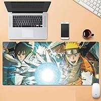 マウスパッドNARUTO -ナルト-水洗い 大型 PC ゲーミングマウスパッド 滑り止め快適である PC キーボードパッド 耐久性 高級感 オフィス テーブル デスクマット 肘疲労軽減-A_900x400x3mm