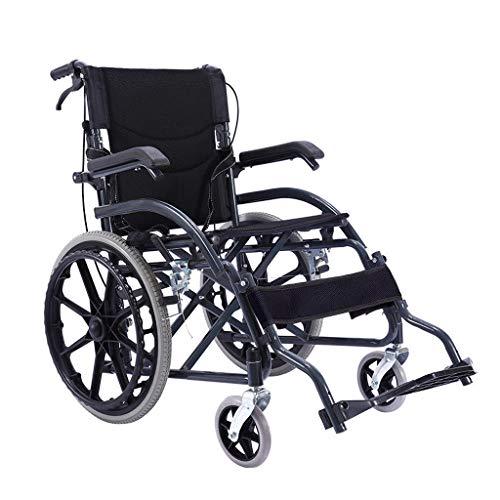 Rollstuhl Faltbar,Armlehne kann angehoben werden hohe tragfähigkeit Erwachsene Rollstühle,Rollator Faltbar Leichtgewicht,B
