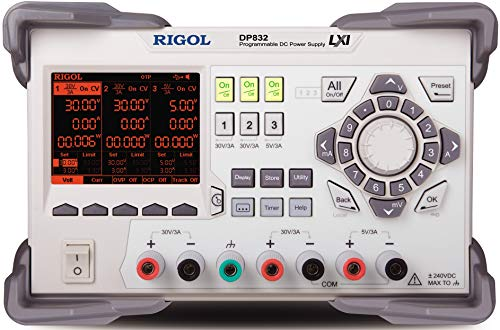 RIGOL DP832 3 Channel Linear Power Supply with 2 Isolated 30 Volt, 3 Amp Channels and One 5 V,3 A